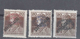 Hungary Debrecen Debreczin 1919 Mi#58 A, B And C, Mint Hinged - Debreczen