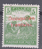 France Occupation Hungary Arad 1919 Yvert#6 Mint Hinged - Nuovi
