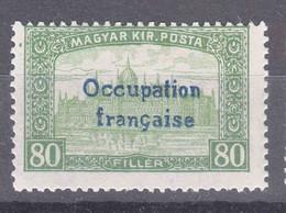 France Occupation Hungary Arad 1919 Yvert#17 Mint Hinged - Neufs