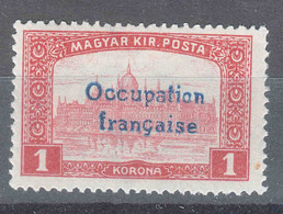 France Occupation Hungary Arad 1919 Yvert#18 Mint Hinged - Nuovi