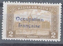 France Occupation Hungary Arad 1919 Yvert#19 Mint Hinged - Nuovi