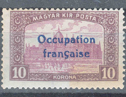 France Occupation Hungary Arad 1919 Yvert#22 Mint Hinged - Neufs
