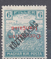 France Occupation Hungary Arad 1919 Yvert#30a Error - Inverted Overprint, Mint Hinged - Neufs