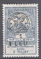 Romania Overprint On Hungary Stamps Occupation Transylvania 1919 Mi#1 I Mint Hinged - Transylvania