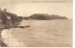 85 .GRANVILLE . VUE GENERALE PRISE DES FALAISES DE DONVILLE . CARTE NON ECRITE - Granville