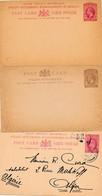 3 Entier Postaux STRAITS SETTLEMENTS 1 Singapour Alger 1908 - Francobolli