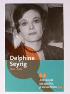 Delphine SEYRIG - Cinéma / Actrice Film - Femme Célèbre - Carte Publicitaire RATP Station Prolongement Tram T3 - Mujeres Famosas