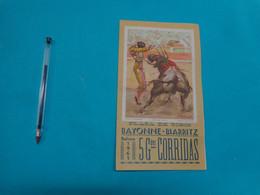 Plaza De Toros Bayonne Biarritz  Saison 1961 5 GRANDES CORRIDAS - Programmes