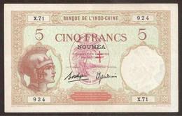 New Hebrides. 5 Francs (1941). Pick 4. - Banknotes