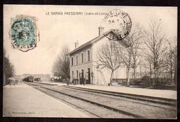 CPA  --  GRAND PRESSIGNY LA GARE C Irculée En 1907 . 523.F* - Le Grand-Pressigny