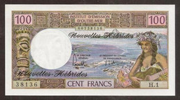New Hebrides. 100 Francs (1975). Pick 18c. UNC - Andere - Oceanië