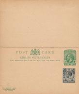 1 Entier Postal Avec Double  Cartes Une De  Reply STRAITS SETTLEMENTS - Francobolli