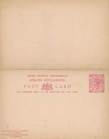 1 Entier Postal Avec Double  Cartes Une De  Reply STRAITS SETTLEMENTS 3 Cents - Francobolli