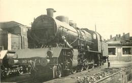 Thème Train Machine Série 140 J 1 à 170 (ex 140 A Locomotives Du Sud Est  (ex PLM) CP Ed. H.M.P. N°584 Locomotive Vapeur - Trains