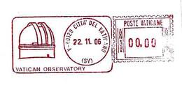 VATICANO - 2006 Osservatorio Vaticano - Ema Affrancatura Meccanica Rossa Red Meter Su Busta Non Viaggiata - 2805 - Astronomy