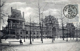 BELGIQUE -  CPA PIONNIERE -  ANVERS - LE PALAIS DE JUSTICE CONSTRUIT DE 1871 à 1875 PAR BAECKELMANS 1905 - Belgien