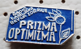Radio Ljubljana Broadcast Prizma Optimizma Slovenia Pin - Mass Media