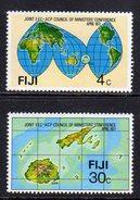 FIJI - 1977 COUNCIL OF MINISTERS CONFERENCE SET (2V) FINE MNH ** SG 539-540 - Fiji (1970-...)