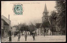 CPA  --  LE GRAND PRESSIGNY PLACE DE L EGLISE Circulée En 1907 . 531.F* - Le Grand-Pressigny