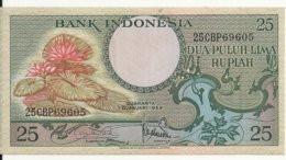 INDONESIE 25 RUPIAH 1959 UNC P 67 - Indonesia