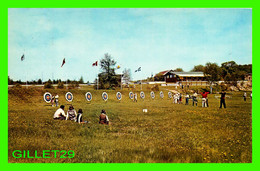 JOLIETTE, QUÉBEC - VUE DU CLUB DES ARCHERS - ANIMÉE - CIRCULÉE EN 1968 - UNIC - - Quebec