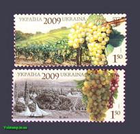 2009 (Postage Stamp Ukraine) Sukholymansky And Muscat White Grape MNH (Mi: UA 1059-1060) - Landwirtschaft