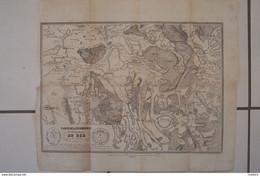 Carte De La Seigneurie De L'Abbaye Royale Du DER Et Des Environs;1845 - Geographical Maps