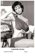 GABRIELLE DRAKE - Film Star Pin Up PHOTO POSTCARD - P701-2 Swiftsure Postcard - Cartoline