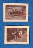 2 Photos Anciennes - Portrait De Famille - Belle Automobile à Identifier - Voir Calandre Cabriolet Carrosserie - Cars