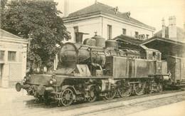 Thème Train Machine 232 AT 18 (ex 5318)  à RIOM Locomotives Du Sud Est  (ex PLM) CP Ed. H.M.P. N°597 Locomotive Vapeur - Treinen