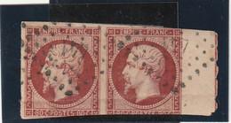 /// FRANCE ///  N° 17A Napoléon III - 80 Cts Paire Avec Filet D'encadrement Côte 4570€ Prix Départ 1% (+ Rare Que Côte) - 1853-1860 Napoléon III.