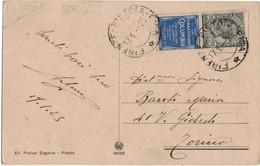 Cartolina Illustrata Affrancata Con 15 Cent. Pubblicitari Columbia - Publicidad