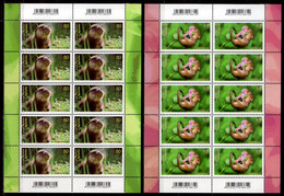 2020 Germany Baby Animals Tierbabys  Sheetlets MNH** MiNr. 3562 - 3563 Hazel Dormouse Eurasian Otter - Ongebruikt