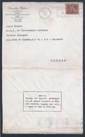 Rara Carta De Coimbra Com Mensagem Da Casa Dos Pobres. Flâmula Da Vacina Da Varíola. Smallpox Vaccine Streamer. Pocken. - 1910-... République