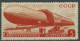 Sowjetunion 1934 Luftschiff Prawda Verläßt Halle 483 X Ohne Gummierung - Unused Stamps