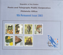 Stamps SUDAN 2003 Definitive REGULAR ISSUE SC-544:557 MNH With OFFICIAL FOLDER - Sudan (1954-...)