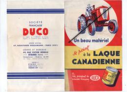 Dépliant - Tracteur , Peinture Laque Duco Canadienne  - Outillages , Machines Agricoles , Agricole - Agricultura