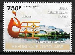 TOGO N° 2284  * *  Jeux Asiatiques 2010 Echecs Cyclisme Velodrome - Cycling