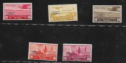 20801) ITALIA-Primo Volo Diretto Roma-Buenos Aires - POSTA AEREA - 20 Gennaio 1934 -5 VALORI  MNH** - Tripolitania