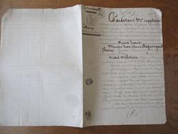 9 DECEMBRE 1837 SAINT SATUR ECHANGE ENTRE M.DEGUINGAND CHENU PROPRIETAIRE ET MICHEL MILLERIOU VIGNERON DE TERRE - Manuskripte