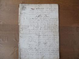 11 MARS 1815 SAINT SATUR LIQUIDATION DECES DE ROSALIE DORNEAU EPOUSE DE SIMON LANGOU,SCELLES INVENTAIRE,CONTRAT DE MARIA - Manuskripte