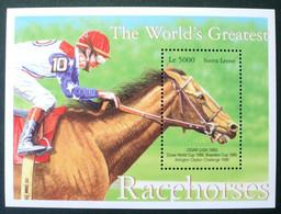 1996 Sierra Leone S/s Mnh - Horses Horse Caballo Pferd Cheval - Famous Racehorse Cigar (USA) Dubai World Cup Winner - Horses