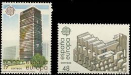 España 1987 Edifil 2904/5 Sellos ** Serie Europa Arte Moderno Arquitectura Edif. Banco Bilbao Centro Azca Madrid YMuseo - 1931-Aujourd'hui: II. République - ....Juan Carlos I
