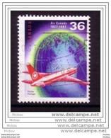 Canada, Air Canada, Globe Terrestre, Avion, Plane, Terre, Earth, Géographie, Geography, Aviation - Aerei