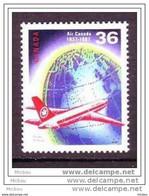 Canada, 1987, #1145, Air Canada, Avion, Plane, Terre, Earth - Aerei