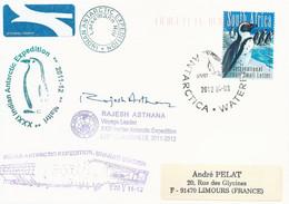 Lettre Indian Antarctic Expedition Avec Timbre Afrique Du Sud PA N°174 - Cachet Du 03/04/2012 - Forschungsprogramme