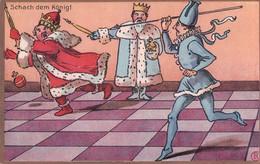 Schach Dem König! Jeu D'Echec Avec Des Personnages Par Illustrateur, Litho (198) - Otros Ilustradores