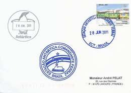 Lettre Estaçao Antartica Comendante Ferraz Avec Timbre Brésil N°2971 - Cachet Du 28/06/2011 - Forschungsprogramme