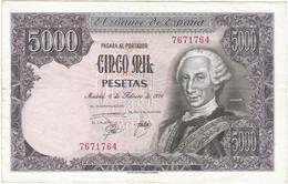 ESPAÑA - SPAIN 5.000 PESETAS 6-2-1976 PK 155 2 SIN SERIE Ref 4051-3 - [ 4] 1975-… : Juan Carlos I
