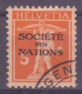 Schweiz Dienstmarke SDN: Zumstein-Nr. 1 (Tellknabe, 1922) Gestempelt - Servizio
